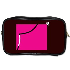 Pink square  Toiletries Bags 2-Side
