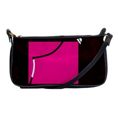 Pink square  Shoulder Clutch Bags