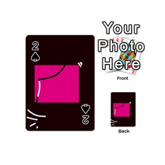 Pink square  Playing Cards 54 (Mini)
