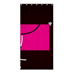 Pink square  Shower Curtain 36  x 72  (Stall)