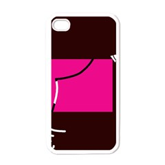Pink square  Apple iPhone 4 Case (White)