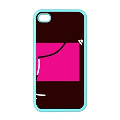 Pink square  Apple iPhone 4 Case (Color)