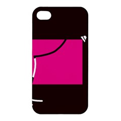 Pink square  Apple iPhone 4/4S Hardshell Case