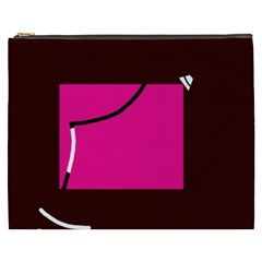 Pink square  Cosmetic Bag (XXXL)