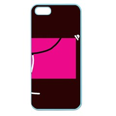 Pink square  Apple Seamless iPhone 5 Case (Color)