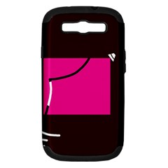 Pink square  Samsung Galaxy S III Hardshell Case (PC+Silicone)
