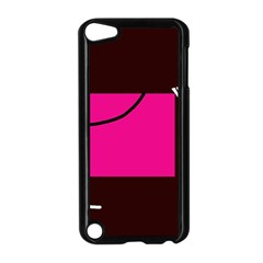 Pink square  Apple iPod Touch 5 Case (Black)