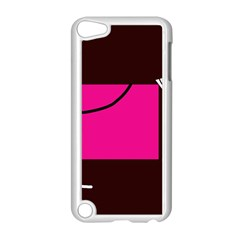 Pink square  Apple iPod Touch 5 Case (White)