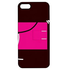 Pink square  Apple iPhone 5 Hardshell Case with Stand