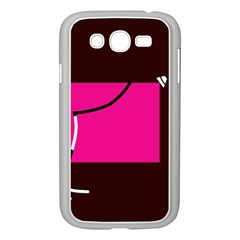 Pink square  Samsung Galaxy Grand DUOS I9082 Case (White)