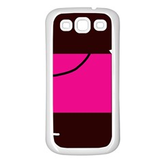 Pink square  Samsung Galaxy S3 Back Case (White)