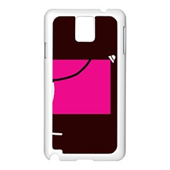 Pink square  Samsung Galaxy Note 3 N9005 Case (White)