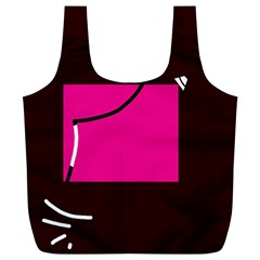 Pink square  Full Print Recycle Bags (L)