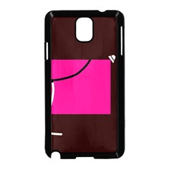 Pink square  Samsung Galaxy Note 3 Neo Hardshell Case (Black)