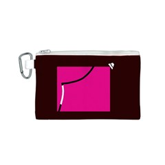 Pink square  Canvas Cosmetic Bag (S)