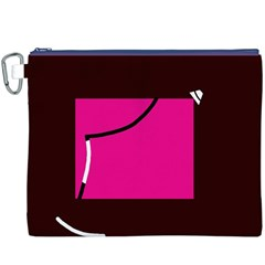 Pink square  Canvas Cosmetic Bag (XXXL)