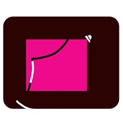 Pink square  Double Sided Flano Blanket (Medium)
