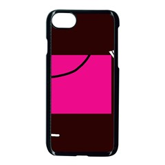 Pink Square  Apple Iphone 7 Seamless Case (black)