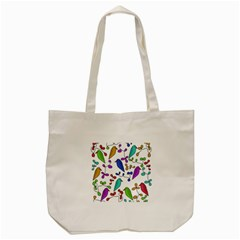 Birds and flowers Tote Bag (Cream)