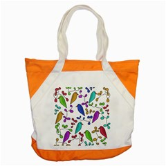 Birds and flowers Accent Tote Bag