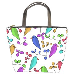 Birds and flowers Bucket Bags