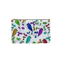 Birds and flowers Cosmetic Bag (Small)