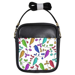 Birds and flowers Girls Sling Bags