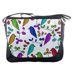 Birds and flowers Messenger Bags