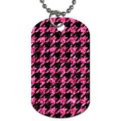 HTH1 BK-PK MARBLE Dog Tag (Two Sides)