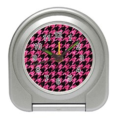 HTH1 BK-PK MARBLE Travel Alarm Clocks