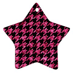 HTH1 BK-PK MARBLE Star Ornament (Two Sides)
