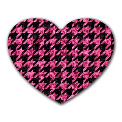 HTH1 BK-PK MARBLE Heart Mousepads