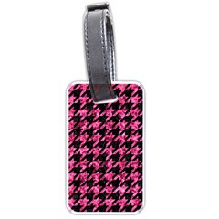 Houndstooth1 Black Marble & Pink Marble Luggage Tag (two Sides)