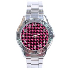 HTH1 BK-PK MARBLE Stainless Steel Analogue Watch