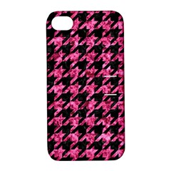HTH1 BK-PK MARBLE Apple iPhone 4/4S Hardshell Case with Stand