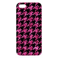 HTH1 BK-PK MARBLE Apple iPhone 5 Premium Hardshell Case