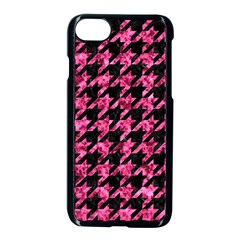 Houndstooth1 Black Marble & Pink Marble Apple Iphone 7 Seamless Case (black)