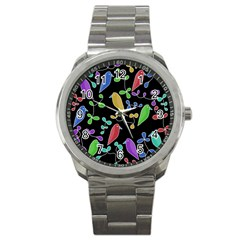 Birds and flowers 2 Sport Metal Watch