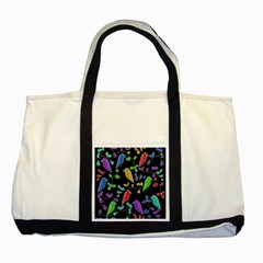 Birds and flowers 2 Two Tone Tote Bag