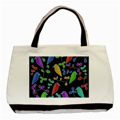 Birds and flowers 2 Basic Tote Bag (Two Sides)