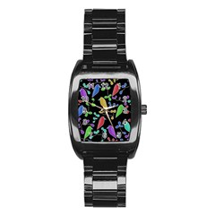 Birds and flowers 2 Stainless Steel Barrel Watch