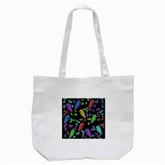 Birds and flowers 2 Tote Bag (White)