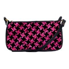 HTH2 BK-PK MARBLE Shoulder Clutch Bags