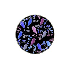 Flowers and birds - blue and purple Hat Clip Ball Marker (10 pack)