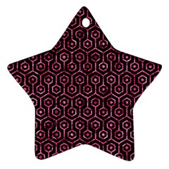 HXG1 BK-PK MARBLE Ornament (Star)