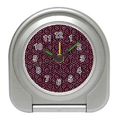 HXG1 BK-PK MARBLE Travel Alarm Clocks