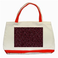 HXG1 BK-PK MARBLE Classic Tote Bag (Red)