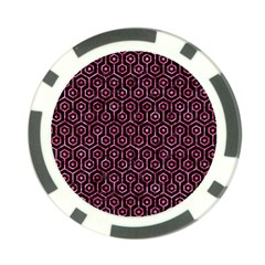 HXG1 BK-PK MARBLE Poker Chip Card Guards