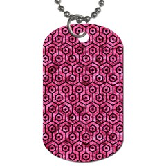 HXG1 BK-PK MARBLE (R) Dog Tag (Two Sides)