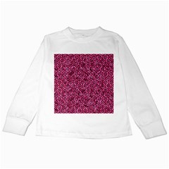 HXG1 BK-PK MARBLE (R) Kids Long Sleeve T-Shirts